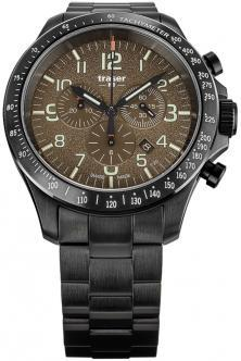 P67 Officer Pro Chronograph Khaki Steel 109460 uhren