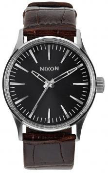 Nixon Sentry 38 Leather Brown Gator A377 1887 Uhren