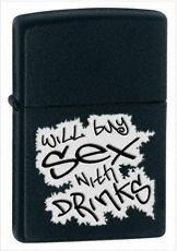 Zippo Will Buy Sex with Drinks 24723 feuerzeug