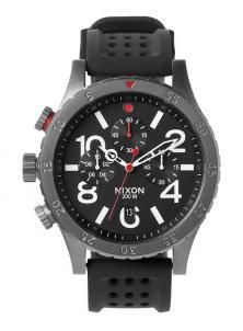 Nixon 48-20 Chrono P Gunmetal/Black/Red A278 1426 Uhren