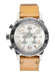 Nixon 42-20 Chrono Leather Natural/Silver A424 1603 Uhren